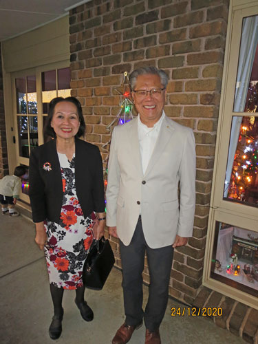 Mrs. Le, His Excellency the Honorable Hieu Van Le, Governor of South Australia.