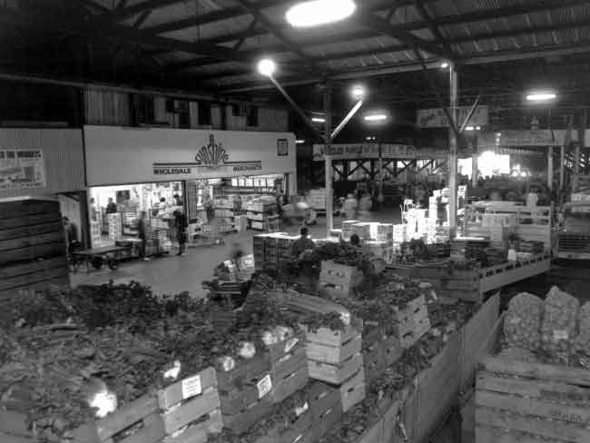 An undated photo taken inside the East End Market.