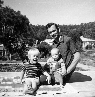Bill Chartres with sons Wayne and Graham