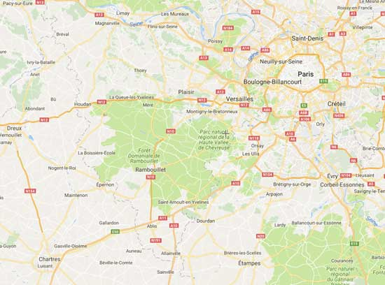 Map of Chartres France