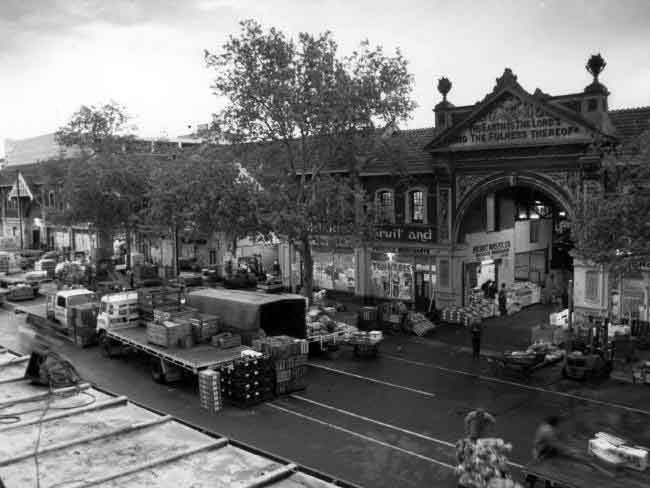 Last day of trading at the East End Market on Grenfell St, September 30, 1988