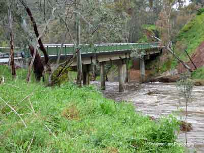 The River Torrens, New Prairie Bridge, Cudlee Creek, SA.