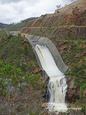The Kangaroo Creek Weir Spillway.