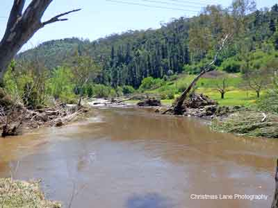 The River Torrens below the Sixth Creek junction,  Gorge Rd., Castambul, SA.